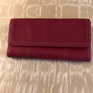 Clark's Red Leather Teri Fold Wallet